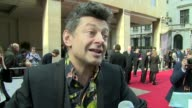 INTERVIEW Andy Serkis on Planet of the Apes The Hobbit Star Wars at Jameson Empire Awards on 29th March 2015 in LondonEngland