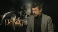 Andy Serkis on returning to the same crew at the The Hobbit An Unexpected Journey interviews on the 7th of March 2013