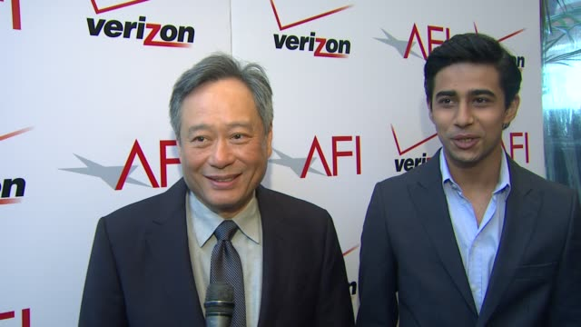 INTERVIEW Ang Lee and Suraj Sharma on being honored by AFI and on their film 'Life of Pi' at the 13th Annual AFI Awards Luncheon in Beverly Hills CA...