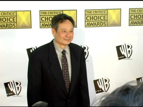 Ang Lee at the 2006 Critics' Choice Awards arrivals at Santa Monica Civic Auditorium in Santa Monica California on January 9 2006