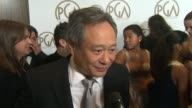 INTERVIEW Ang Lee on being here's with his peers on what makes a good producer at the 24th Annual Producers Guild of America Awards on 1/26/13 in...