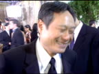 Ang Lee on how it feels to be at the Golden Globes and have his film nominated for Best Picture at the 2006 Golden Globe Awards Arrivals at the...