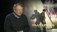 INTERVIEW Ang Lee on learning on set the difficulties of shooting in a high frame rate at 'Billy Lynn's Long Halftime Walk' Interviews on January 19...