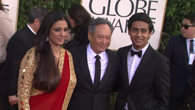 Ang Lee Suraj Sharma at 70th Annual Golden Globe Awards Arrivals 1/13/2013 in Beverly Hills CA