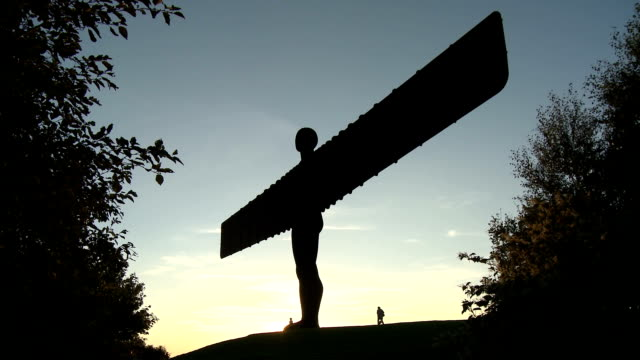 Angel of the North at dusk