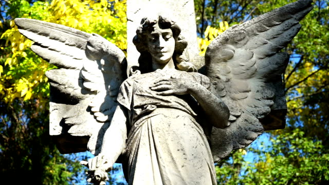 Angel standbeeld begraafplaats