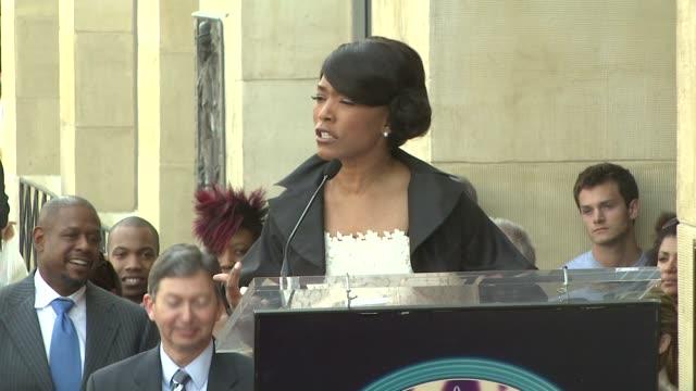 Angela Bassett at the Dedication of Angela Bassett's Star on March 20 2008