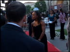 Angela Bassett at the Premiere of 'The Score' at Paramount Studios in Hollywood California on July 9 2001