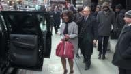Angela Bassett leaves the Good Morning America show in Celebrity Sightings in New York
