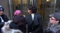 Angela Bassett leaving SiriusXM Satellite Radio signs and poses for photos with fans in Celebrity Sightings in New York
