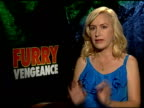 Angela Kinsey on watching shows with her daughter at the 'Furry Vengeance' Junket at Los Angeles CA