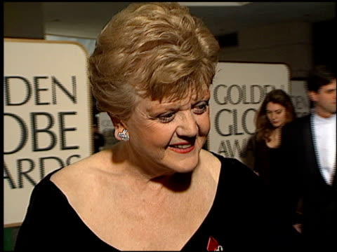 Angela Lansbury at the 1996 Golden Globe Awards at the Beverly Hilton in Beverly Hills California on January 21 1996