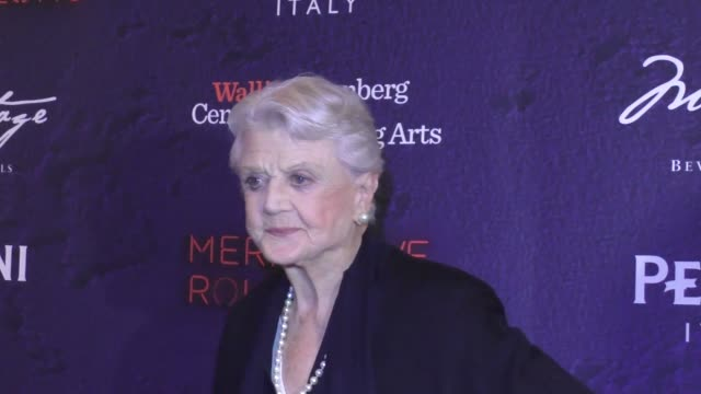 Angela Lansbury at the Opening Night Of Stephen Sondheim's 'Merrily We Roll Along' on November 30 2016 in Beverly Hills California