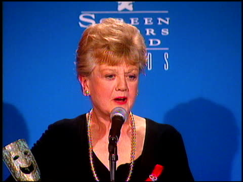 Angela Lansbury at the Screen Actor's Guild Awards at the Shrine Auditorium in Los Angeles California on February 22 1997