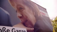 Angela Merkel election campaign posters in Berlin