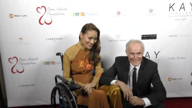 Angela Rockwood and David Richard at The 2017 Open Hearts Gala at SLS Hotel on October 21 2017 in Beverly Hills California