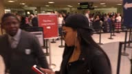 INTERVIEW Angela Simmons on pregnancy rumors at Los Angeles International Airport at Celebrity Sightings in Los Angeles on May 13 2016 in Los Angeles...