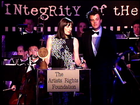 Angelica Huston at the Artist Rights Foundation at the Beverly Hilton in Beverly Hills California on April 17 1998