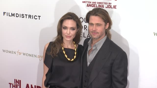 Angelina Jolie and Brad Pitt at the 'In The Land Of Blood And Honey' New York Premiere Arrivals at New York NY