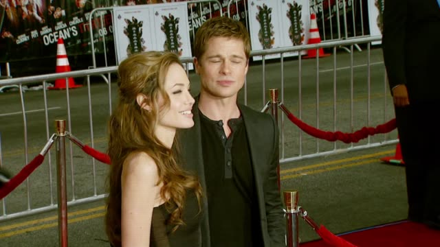 Angelina Jolie and Brad Pitt at the 'Ocean's Thirteen' North American Premiere at Grauman's Chinese Theatre in Hollywood California on June 5 2007