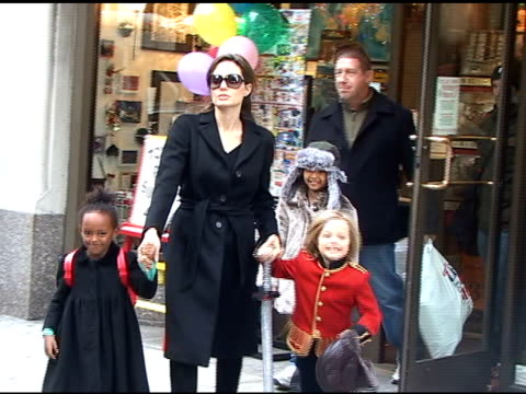 Angelina Jolie and family at the Celebrity Sightings in New York at New York NY