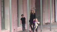 Angelina Jolie and family in New Orleans LA on 3/11/2012