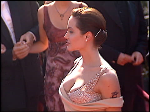 Angelina Jolie at the 1998 Emmy Awards at the Shrine Auditorium in Los Angeles California on September 13 1998