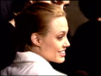 Angelina Jolie at the Premiere of 'The Bone Collector' at the Mann Festival Theater in Westwood California on November 2 1999