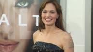 Angelina Jolie at the 'Salt' Premiere at Los Angeles CA