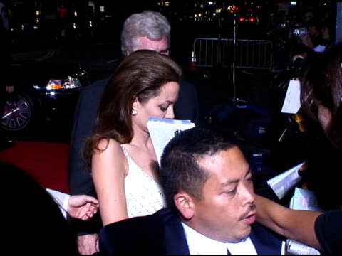 Angelina Jolie at the 'Sky Captain and the World of Tomorrow' Premiere Arrivals at Grauman's Chinese Theatre in Hollywood California on September 14...