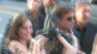 Angelina Jolie Brad Pitt sign at Salt Premiere in Hollywood at the Celebrity Sightings in Los Angeles at Los Angeles CA