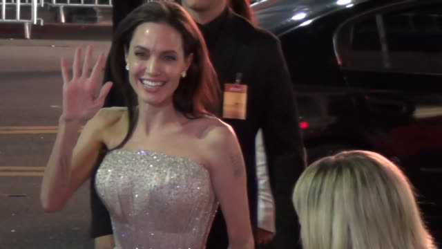 Angelina Jolie greets fans at the AFI FEST 2015 Presented By Audi Opening Night Gala Premiere Of Universal Pictures' By The Sea at TCL Chinese...