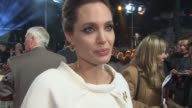INTERVIEW Angelina Jolie on directing her next film with Brad Pitt what it was like directing him at 'Unbroken' UK Film Premiere at Odeon Leicester...