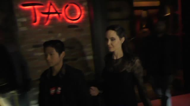 Angelina Jolie son Maddox has dinner at TAO Restaurant in Hollywood in Celebrity Sightings in Los Angeles