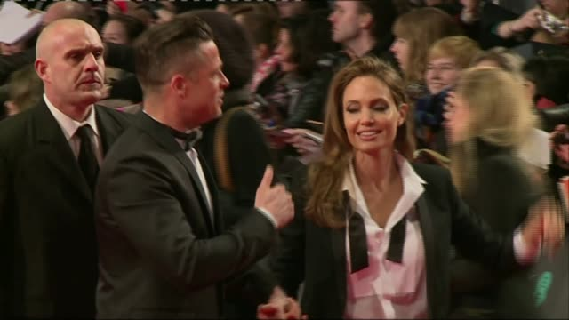 Angelina Jolie to teach at LSE LIB / 170214 London PHOTOGRAPHY*** Brad Pitt and Angelina Jolie along red carpet