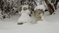Angels in den Schnee medium shot