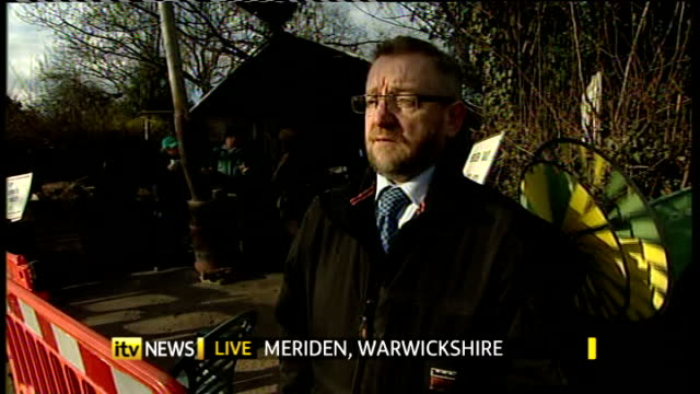 Anger of residents at order to dismantle protest camp when gypsy camp allowed to remain ENGLAND Warwickshire Meriden SCREEN ** David McGrath...