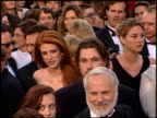 Angie Everhart at the 1997 Academy Awards Arrivals at the Shrine Auditorium in Los Angeles California on March 24 1997