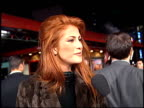 Angie Everhart at the 'BioDome' Premiere at Grauman's Chinese Theatre in Hollywood California on January 11 1996