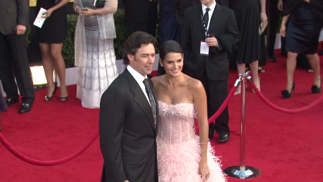 Angie Harmon and Jason Sehorn at the 17th Annual Screen Actors Guild Awards Arrivals at Los Angeles CA
