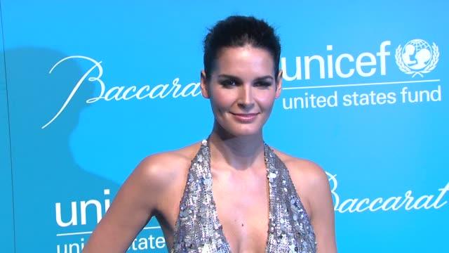 Angie Harmon at the 2011 UNICEF Snowflake Ball at New York NY