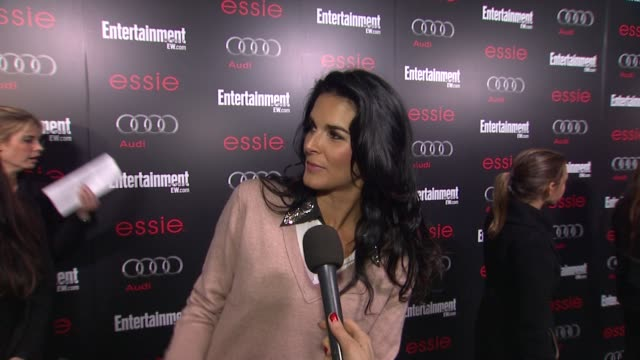 INTERVIEW Angie Harmon on awards season on her show on any predictions for SAGs and Oscars at Entertainment Weekly Hosts Celebration Honoring the...