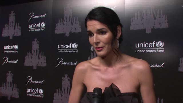 INTERVIEW Angie Harmon on being a UNICEF ambassador on why people should support the cause On the snowflake ball on UNICEF's impact around the globe...