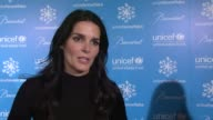 Angie Harmon on what UNICEF does and what it represents at the 10th Anniversary Of The UNICEF Snowflake Lighting at New York NY