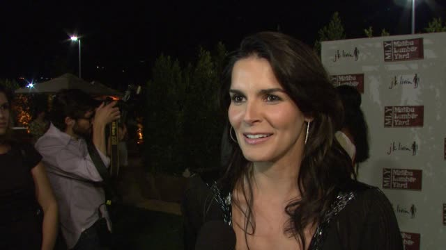 Angie Harmon on why she loves Malibu on the new shopping center on Earth Day and on the Miss California controversy at the Malibu Lumber Yard Opening...