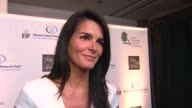 INTERVIEW Angie Harmon on why she wanted to celebrate with EIF why she wanted to get involved in the fight against women's cancer and if she thinks a...