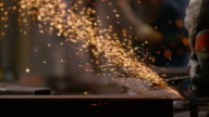 SLO MO DS Angle grinder causing sparks
