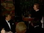 POLITICS AngloAmerican relationships LIB HELD WASHINGTON BUREAU 2shot Ronald Reagan Margaret Thatcher as Thatcher speech SOT we in Britain think you...