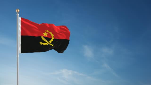 4 K Angola Flagge-Endlos wiederholbar