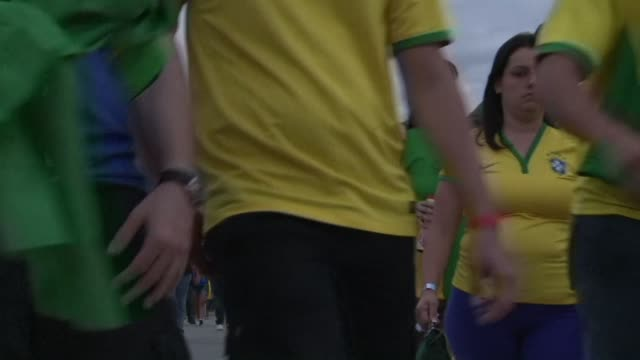 Angry and humiliated Brazil fans started leaving the stadium in Belo Horizonte after their side went 50 down in their semi final clash against...
